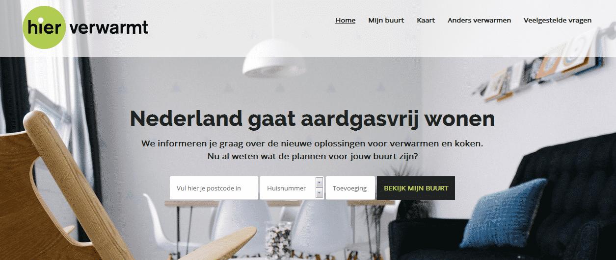 Nederland gaat aardgasvrij wonen